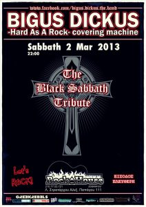 BIGUS DICKUS live tribute to BLACK SABBATH @ ROCK HOUSE