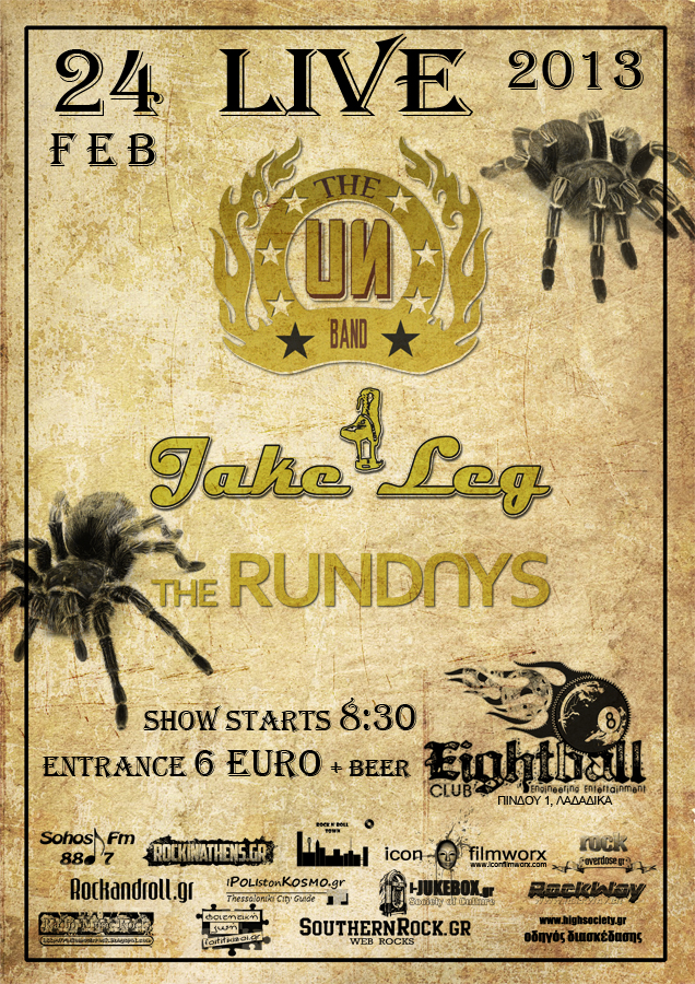 U.N. + JAKE LEG + THE RUNDAYS ... LIVE!!!