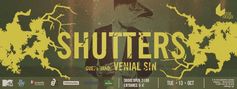 Shutters Live w/ Venial Sin @ Six D.o.g.s