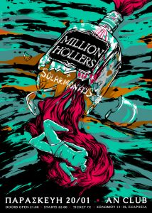 MILLION HOLLERS + SOLARMONKEYS @ AN CLUB!