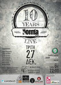 NORMA 10 Χρόνια Live | Θέατρο Έκφραση, Ιωάννινα