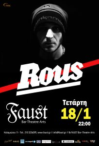 ROUS live @ FAUST (18/1)