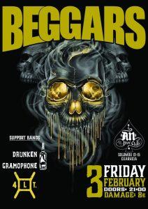 BEGGARS + special guest: Drunken Gramophone & 4LT @AN CLUB!